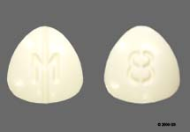 Small White Pill with M