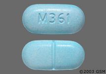 Light Blue Oval Pill